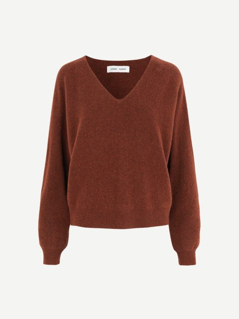 Frances v-neck 12756 - Cinnamon Mel. - 1