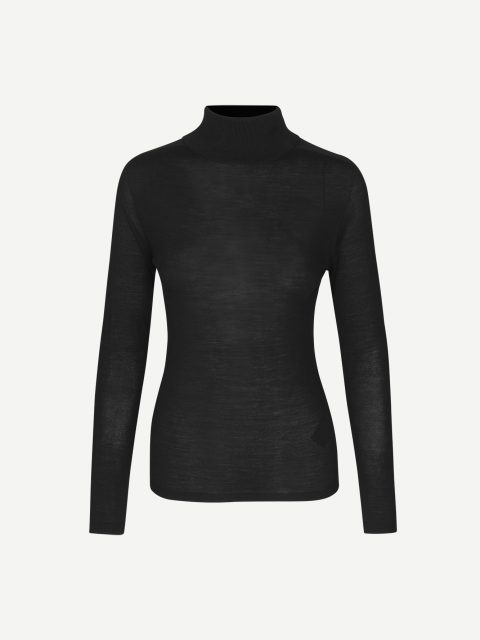 Jennifer turtleneck 12928 - Black - 1