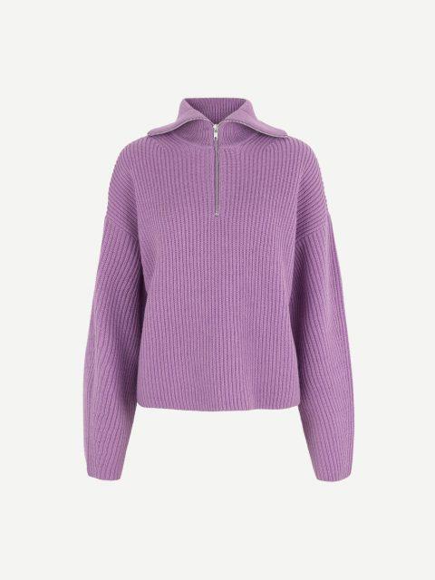 Keiko zip turtleneck 11091 - Purple Jasper - 1