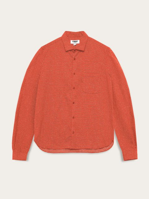 p2qal_curtis_cotton_sashiko_stitch_shirt_red_flat