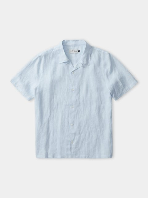 KUNO shortsleeve shirt (striped sky linen)