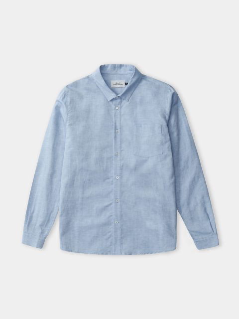 SIMON shirt (riviera blue linen)