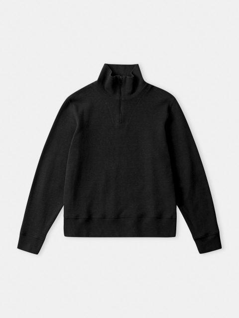 NOAM half zip jumper (eco 4rib black)